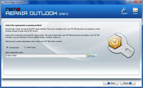 How to Recover Outlook Calendar -Browse File